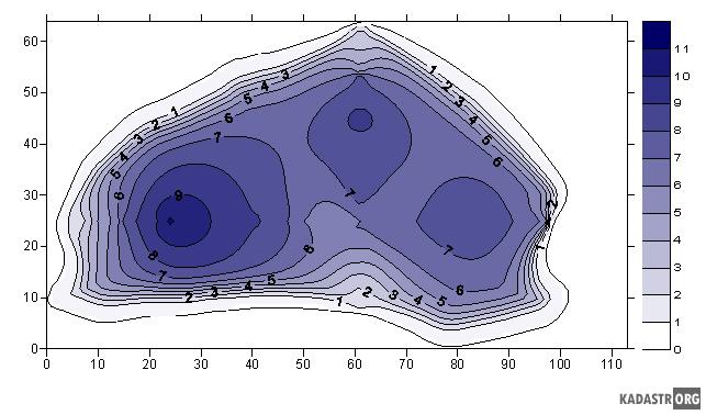 Батиметрическая модель котловины озера Мертвое