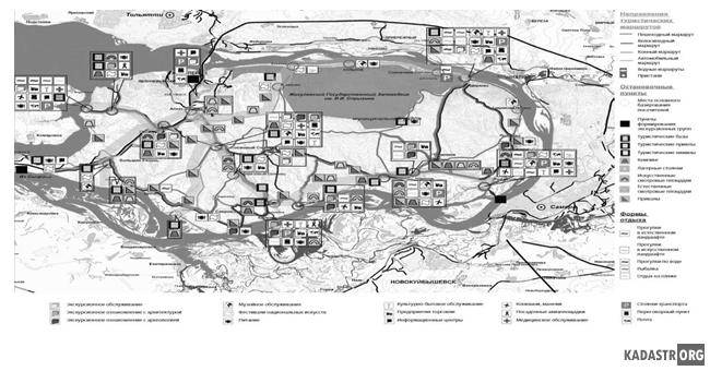 Карта туристско-рекреационного комплекса