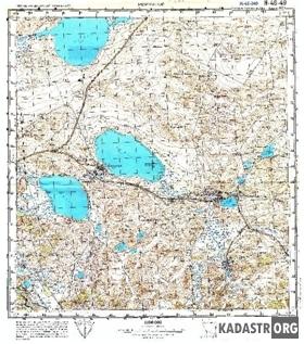 Топографическая карта. Масштаб 1:100000