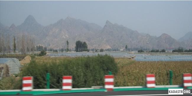 Поле фермерской общины, расположенное в вдоль транспортной магистрали