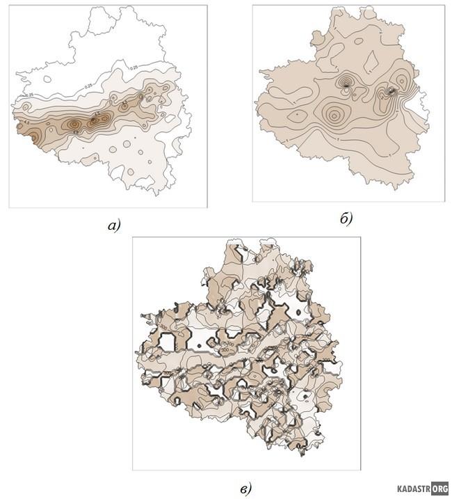 Интегральные показатели загрязнения территории Тульской области