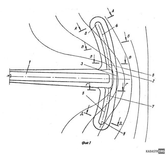 Регуляционное струенаправляющее сооружение для мостового перехода, план