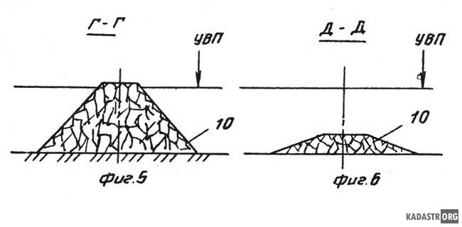 Регуляционное струенаправляющее сооружение для мостового перехода, разрезы