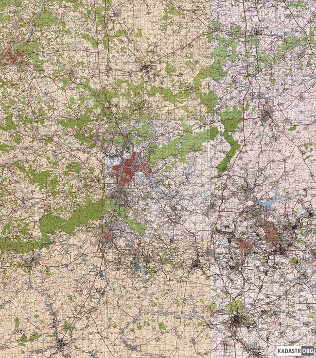 Исходная топографическая карта района