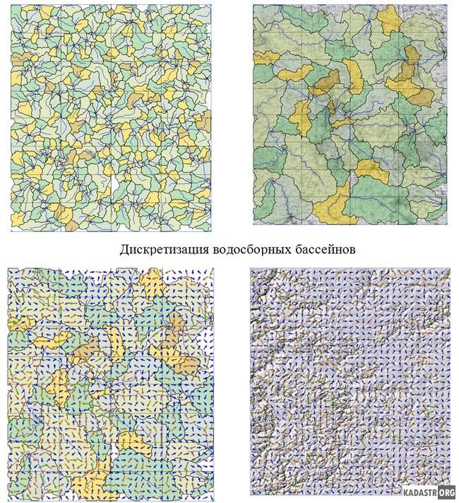 Использование векторных карт для визуализации движения поверхностных вод