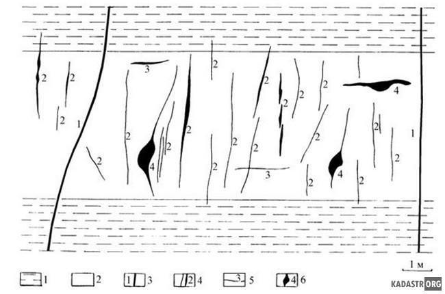 Кварц-шеелитовые жильные системы в амфиболитах Кти-Тебердинского  месторождения