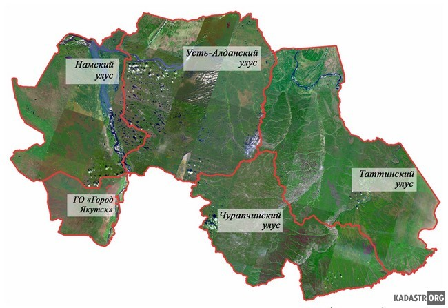 Данные ДЗЗ на территории улусов (районов)