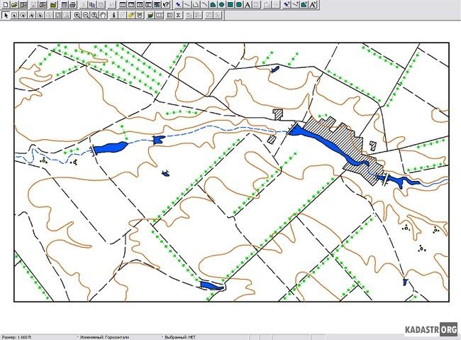 Предварительная топографическая карта