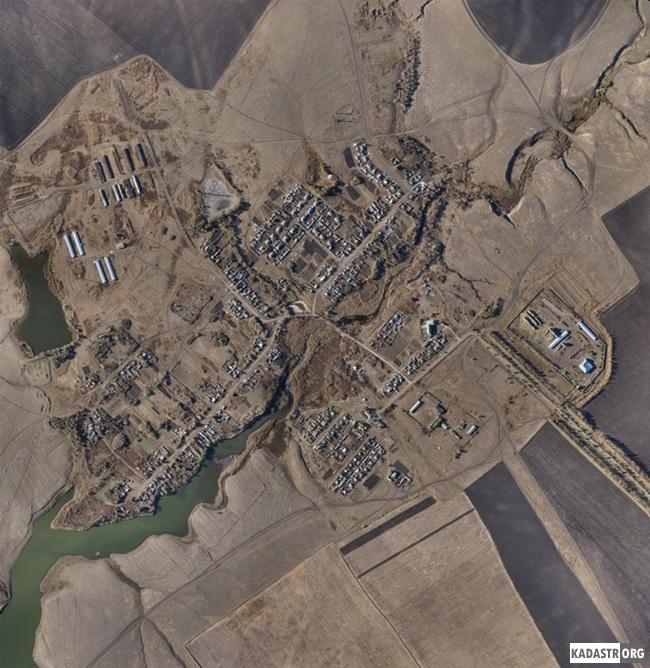 Фотосхема смонтированная из аэроснимков