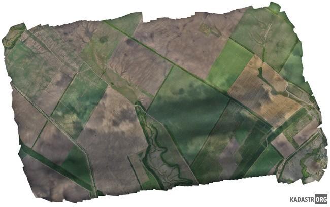 Изучение развития эрозии по мозаике из снимков БПЛА (площадь более 2000 га)