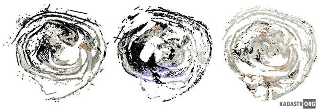 Облака точек результат лазерного сканирования карьера