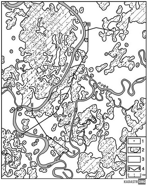 Карта закарстованности Уфы.